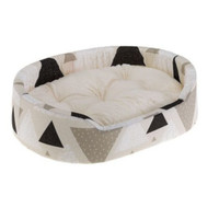 Ferplast hondenmand Dandy 55 x 80 cm katoen wit/zwart/beige