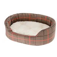 Ferplast hondenmand Dandy 55 x 80 cm katoen bruin/rood 2-delig