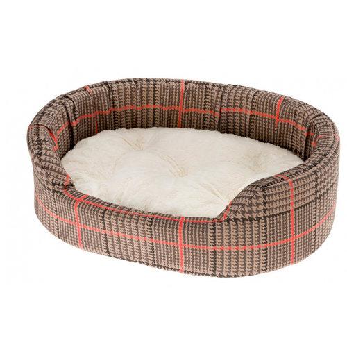Ferplast Ferplast hondenmand Dandy 55 x 80 cm katoen bruin/rood 2-delig