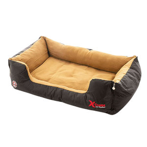 Xtreme Xtreme hondenmand Lounger 89 x 59 cm polykatoen zwart/bruin