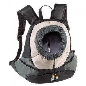 Ferplast Ferplast kangoo hondenrugtas 37 x 16 cm nylon zwart/grijs