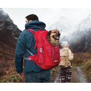 Kurgo Kurgo hondenrugtas G-Train K9 Pack Chili 53 cm polyester rood