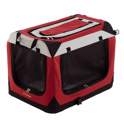 Ferplast Ferplast draagbare kennel Holiday 60 x 42 x 42 cm nylon rood