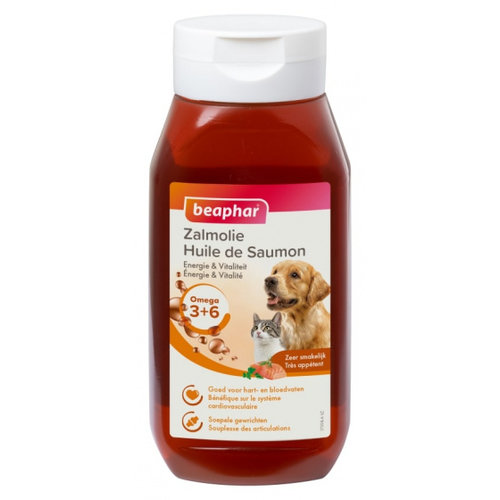 Beaphar Beaphar zalmolie Omega 3 + 6 huisdier 430 ml