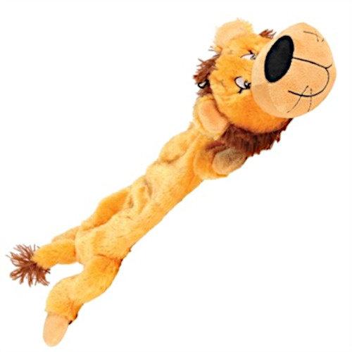 Happy pet Happy Pet hondenknuffel leeuw 60 x 14 cm pluche oranje/bruin