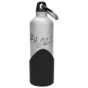 Altranet Altranet hondendrinkfles H2o2go 750 ml aluminium zilver