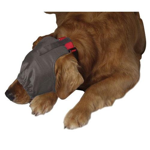 Thundershirt Thundershirt hondenhoofddeksel Calming Cap katoen grijs