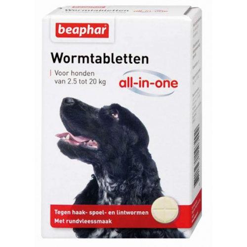 Beaphar Beaphar wormmiddel All-In-One 2,5-20 kg wit 2-delig