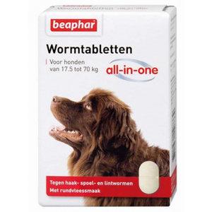 Beaphar Beaphar wormmiddel All-In-One 17,5-70 kg wit 2-delig