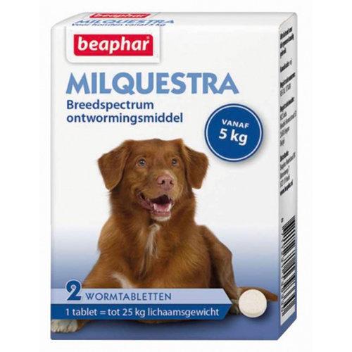 Beaphar Beaphar wormenkuur Milquestra 5 kg wit 2-delig