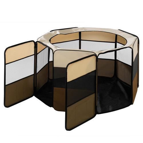 Ferplast Ferplast opvouwbare hondenbench 118 cm nylon geel/bruin/zwart