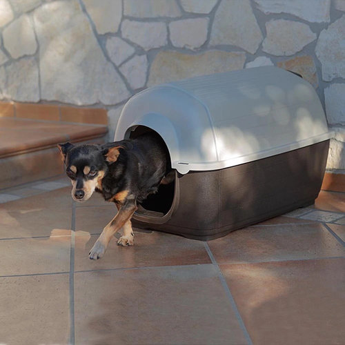 Ferplast Ferplast hondenbench Kenny 50 x 78 cm wit/bruin