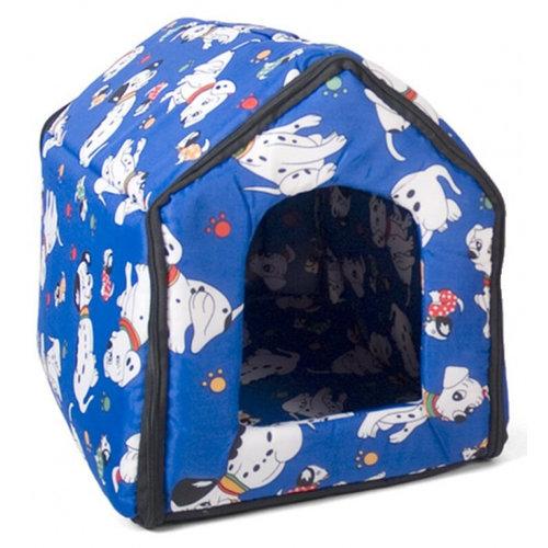 Gerimport Gerimport hondenhuisje 44 x 40 x 40 cm polyester blauw