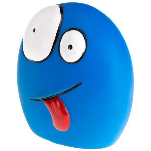 Ferplast Ferplast piepspeelgoed Funny Faces 10 cm elastomeer roze of blauw