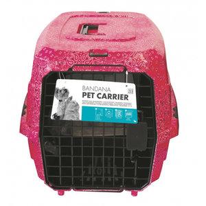 M-Pets M-Pets vervoersboxen honden 58 x 40 x 26.5 cm zwart of roze