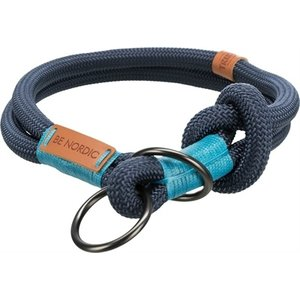 Trixie Trixie halsband hond be nordic slip met stop donkerblauw / lichtblauw