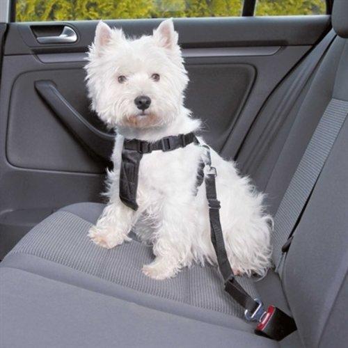 Trixie Trixie hondentuig auto inclusief gordel zwart