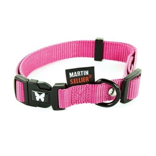 Martin sellier Martin sellier halsband nylon roze verstelbaar