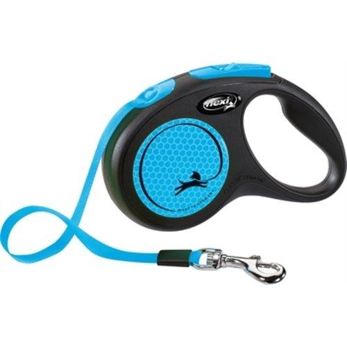 Flexi Flexi rollijn new neon tape zwart / neon blauw