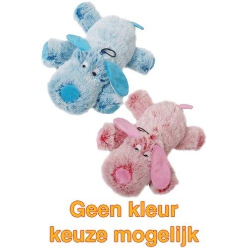 Merkloos Harige hond roze/blauw