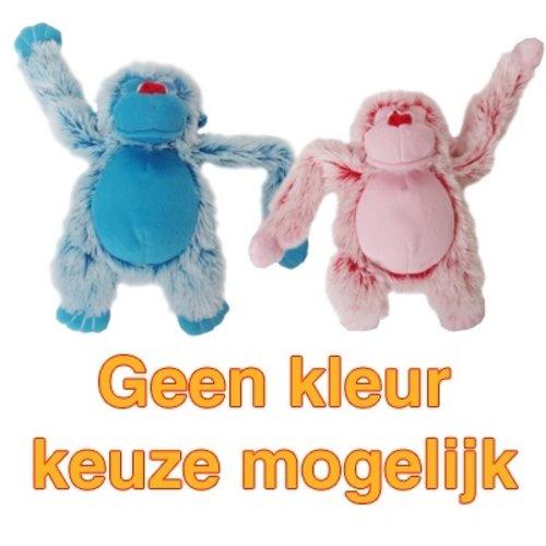 Merkloos Harige aap roze/blauw