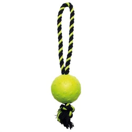 Happy pet Happy pet tough toys ball tugger geel