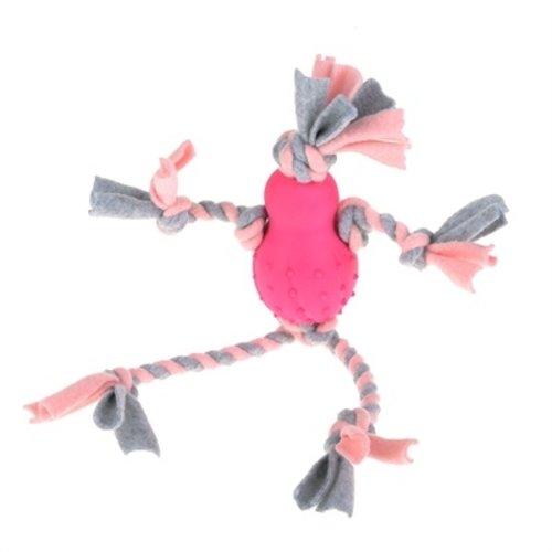 Little rascals Little rascals flostouw pop met fleece roze
