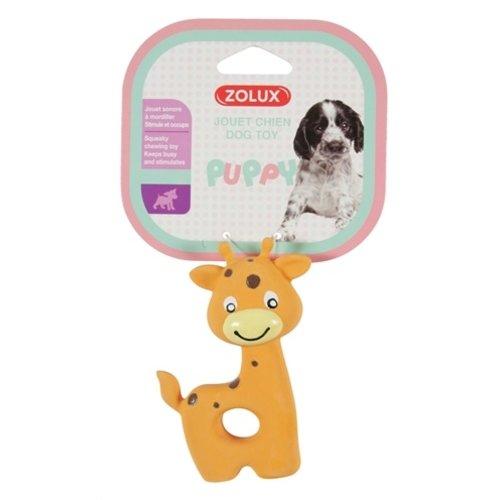 Zolux Zolux puppyspeelgoed latex giraffe oranje