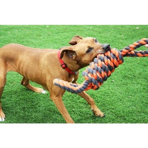 Happy pet Happy pet nuts for knots extreme spoel 8 vorm tugger grijs / oranje