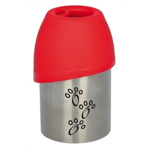 Trixie Trixie drinkfles rvs met plastic drinkbakje assorti