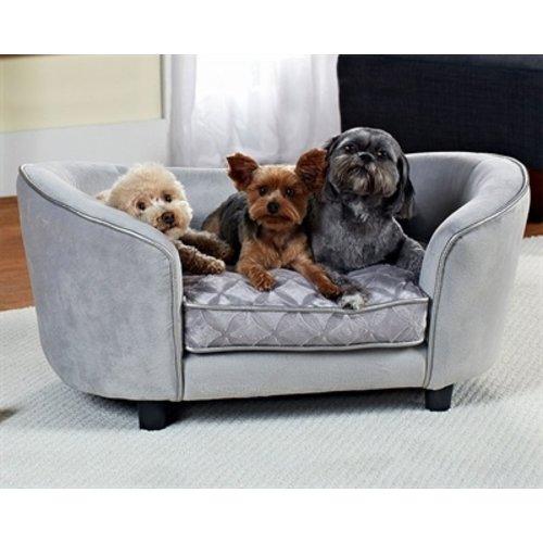 Enchanted pet Enchanted hondenmand / sofa constantine zilverkleurig