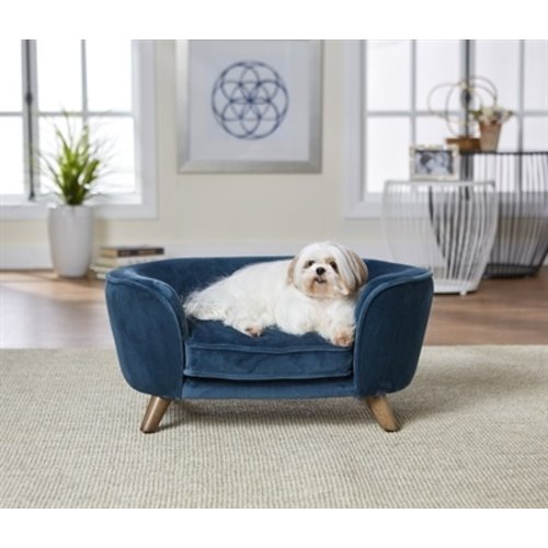 Enchanted pet Enchanted hondenmand / sofa romy peacock blauw