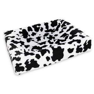 Bia bed Bia bed fleece overtrek hondenmand black / white