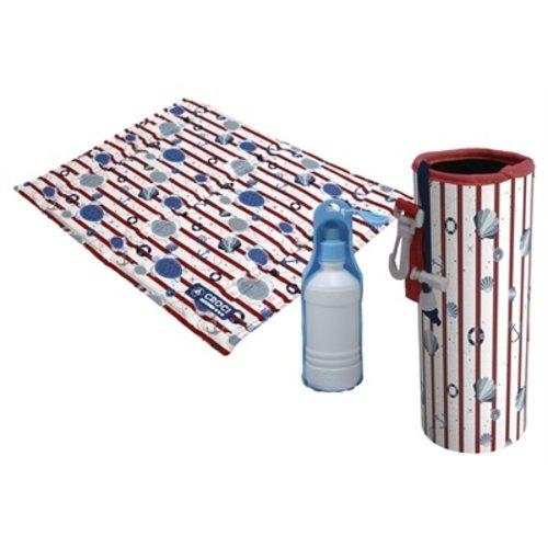Croci Croci koel kit met mat / drinkfles / koelhouder fles