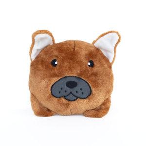 Squeakie Franse Bulldog hondenknuffel 17 x 20 x 10cm