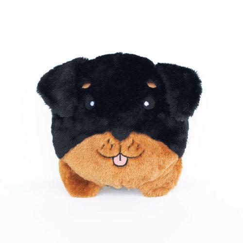 Squeakie Rottweiler Hondenknuffel 17 x 20 x 10cm