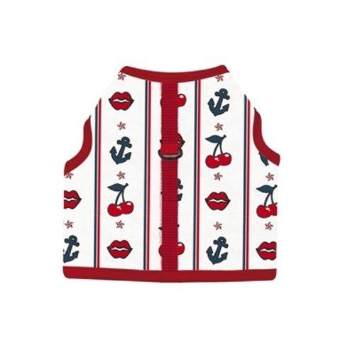 Croci Croci hondentuig slot print wit / rood