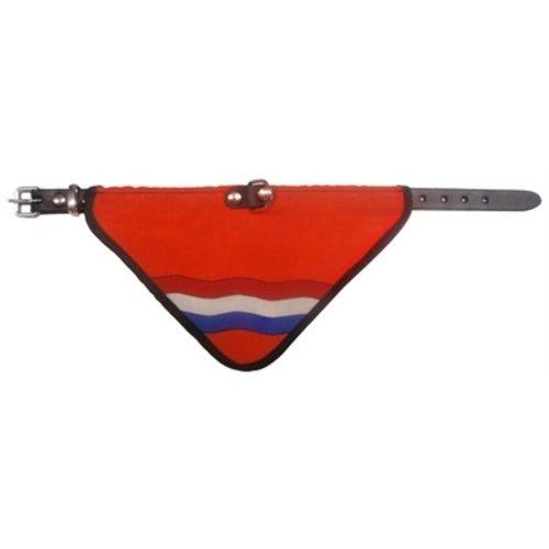Merkloos Halsband met zakdoek nl vlag