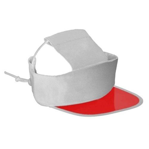 Croci Croci hondenpet visor rood / wit