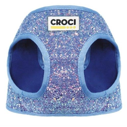 Croci Croci hondentuig mermaid zeemeermin glitters blauw