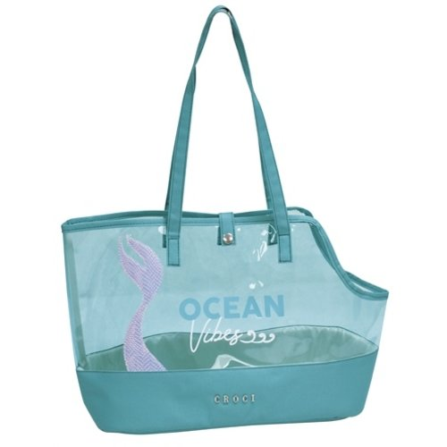 Croci Croci hondentas ocean wave transparant / groen