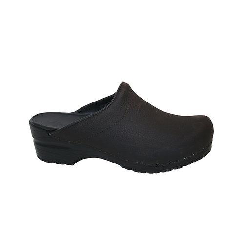 Sanita klompen Karl zwart nubuck 450250