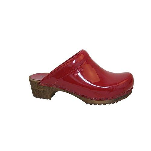 Sanita klompen Classic rood lak 457012