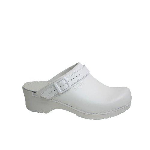Sanita klompen Flex model 38 wit met riempje 8110