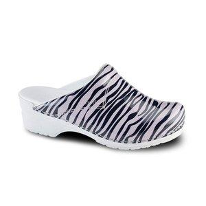 Sanita klompen Flex model 314 Wildlife Zebra roze-zwart 8681