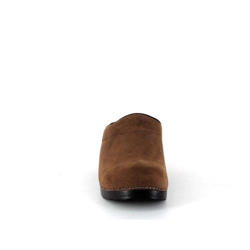 Sanita klompen Karl bruin nubuck 450250