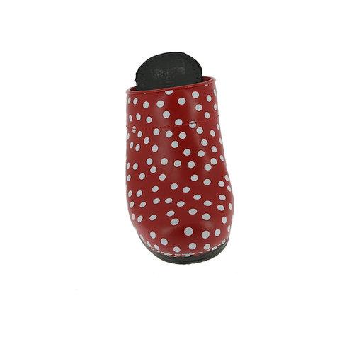 Sanita klompen Fenja rood stippen 457048