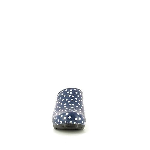 Sanita klompen Fenja blauw stippen 457048