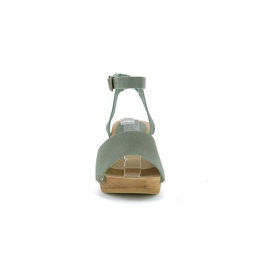 Sanita klompsandalen Yara khaki 457357