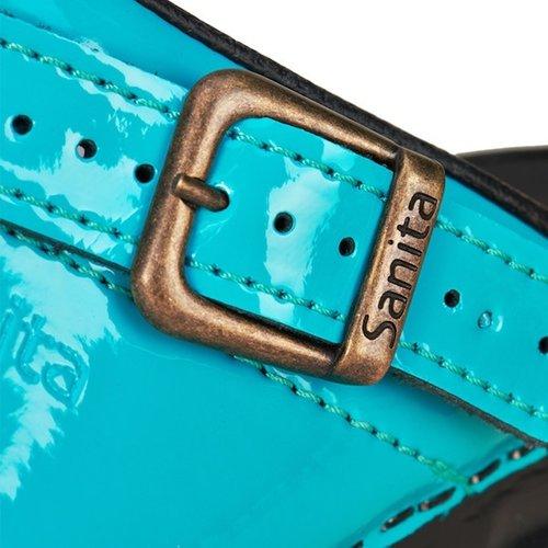 Sanita klompen Freya turquoise lak 457548